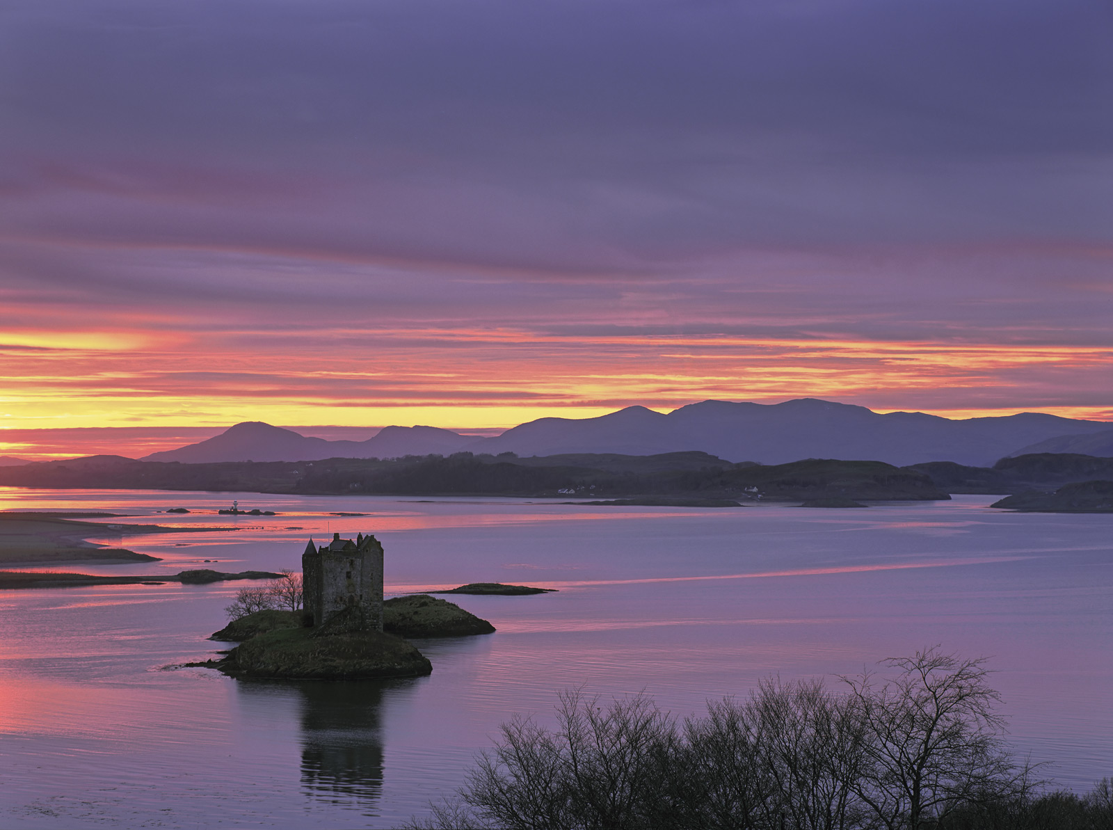 Castle Stalker is a difficult one to photograph especially from the top of the hill where telegraph wires and other manmade paraphernalia...