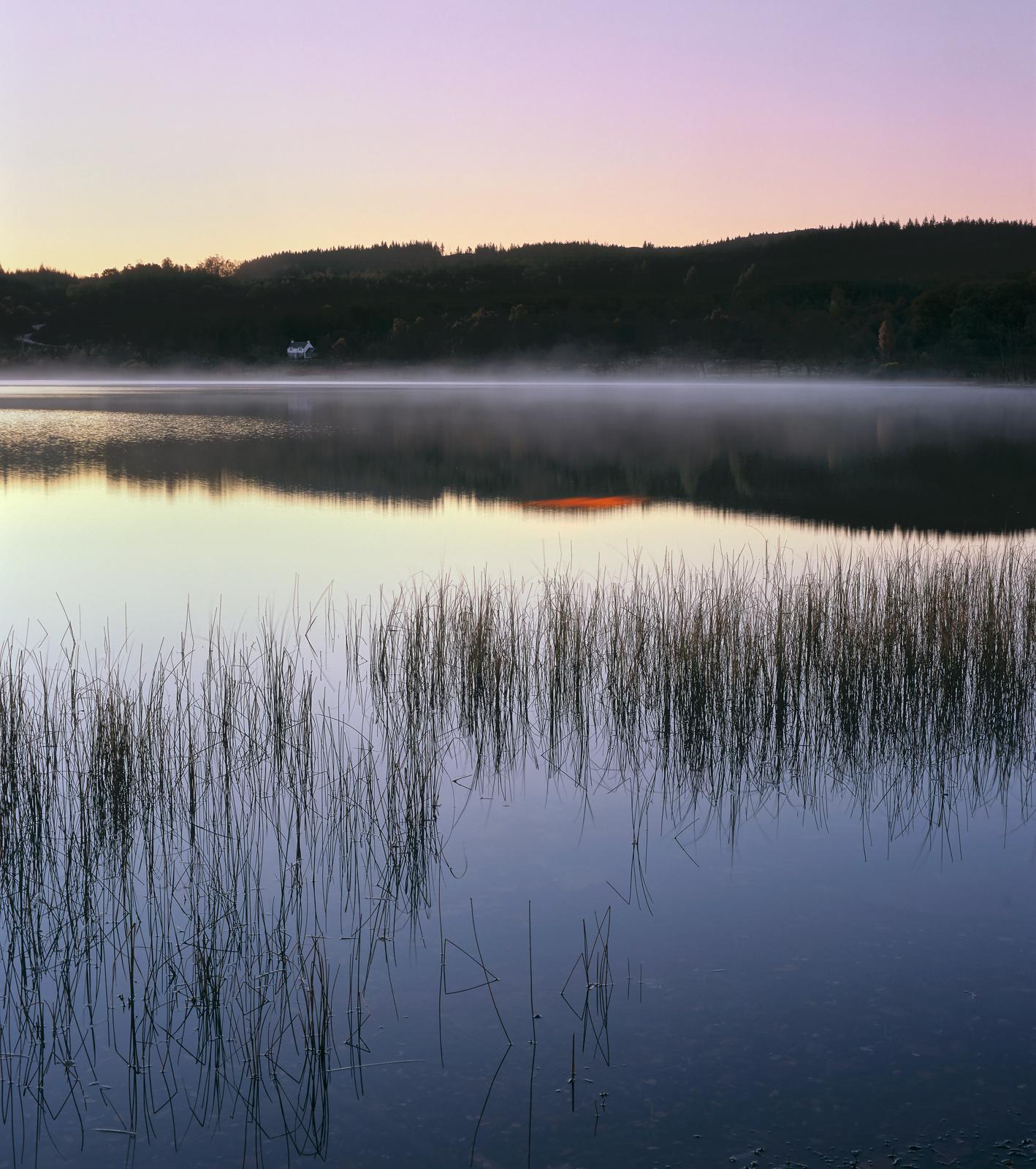 Loch Achray Velvet, Loch Achray, Trossachs, Scotland, blue, twilight, light, sweet, cold, frost, autumn, mist, wisps, ho, photo