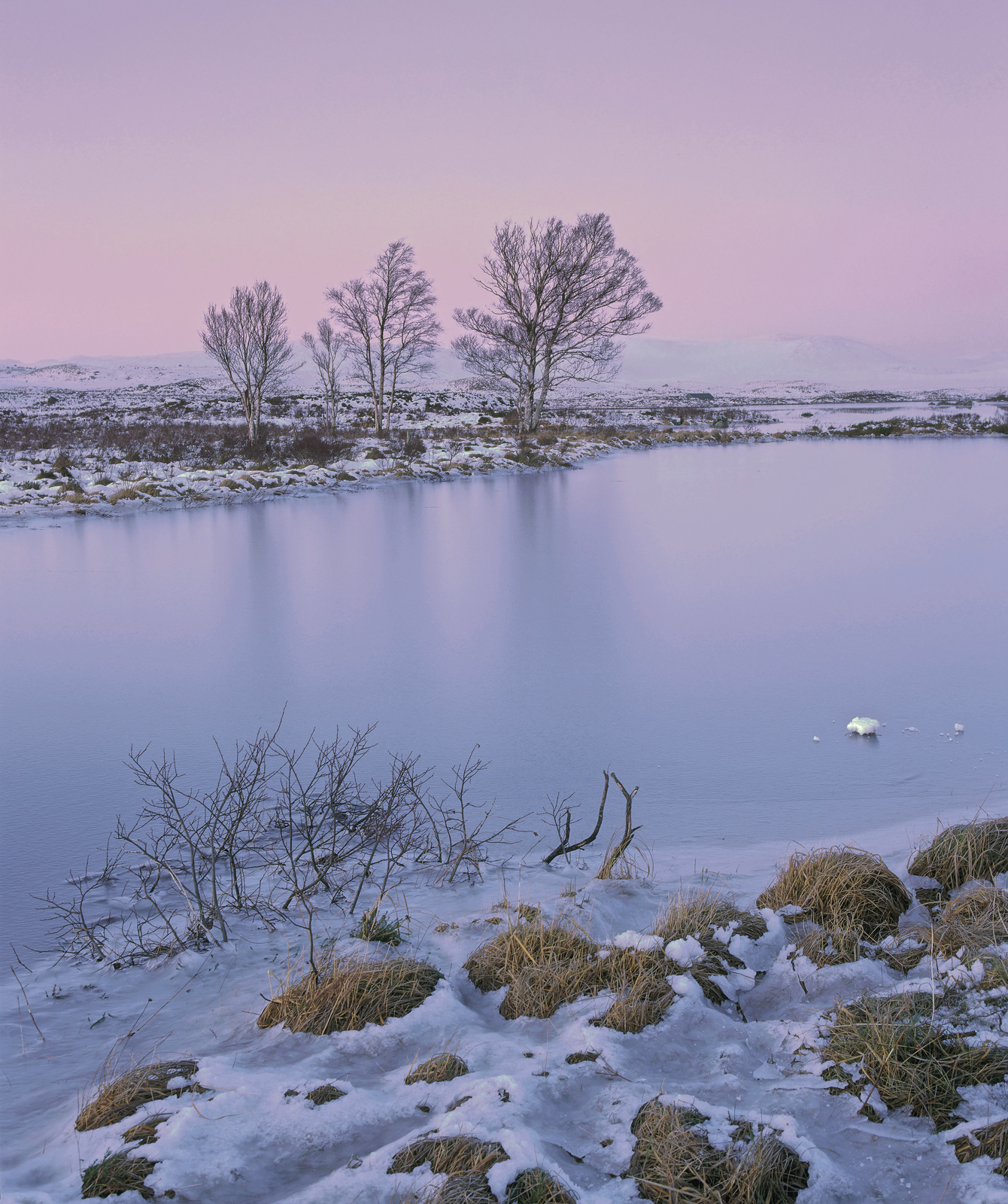 I prefer to visit and photograph Rannoch moor first thing in the morning, particularly beause the pre-sunrise glow often acts...