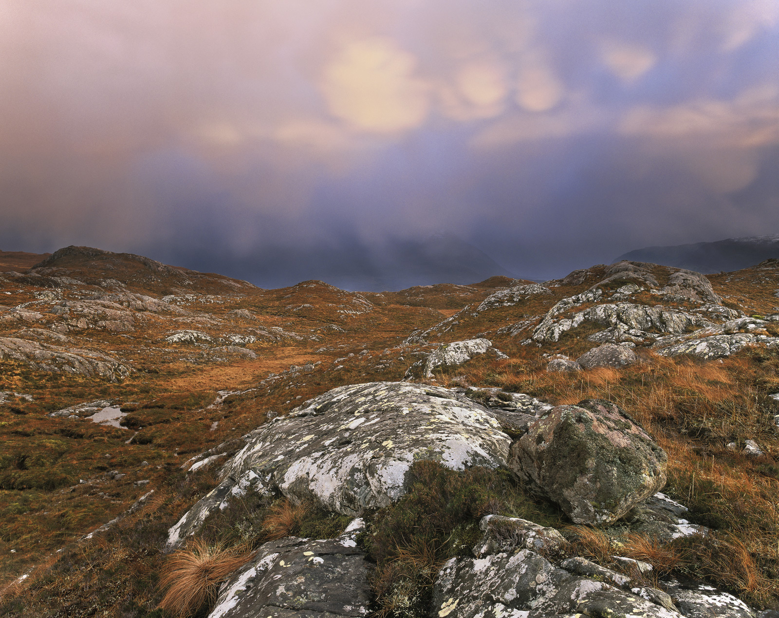 Whilst high above the hamlet of Diabaig facing the Torridon peaks a vicious Autumn squall struck which was quickly followed by...