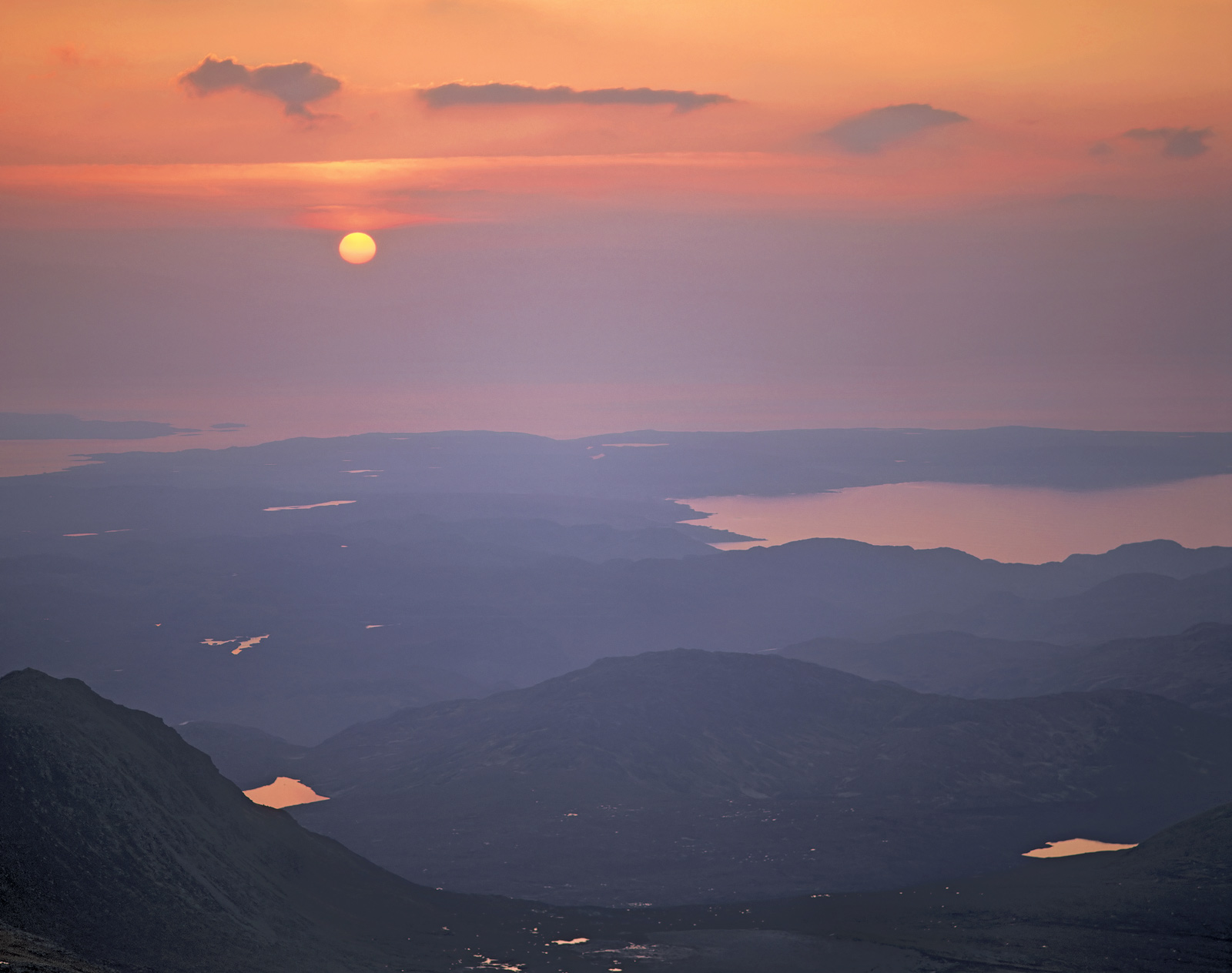The view from the summit of An Teallach a particularly awesome mountain on the west coast south of Ullapool is never less than...