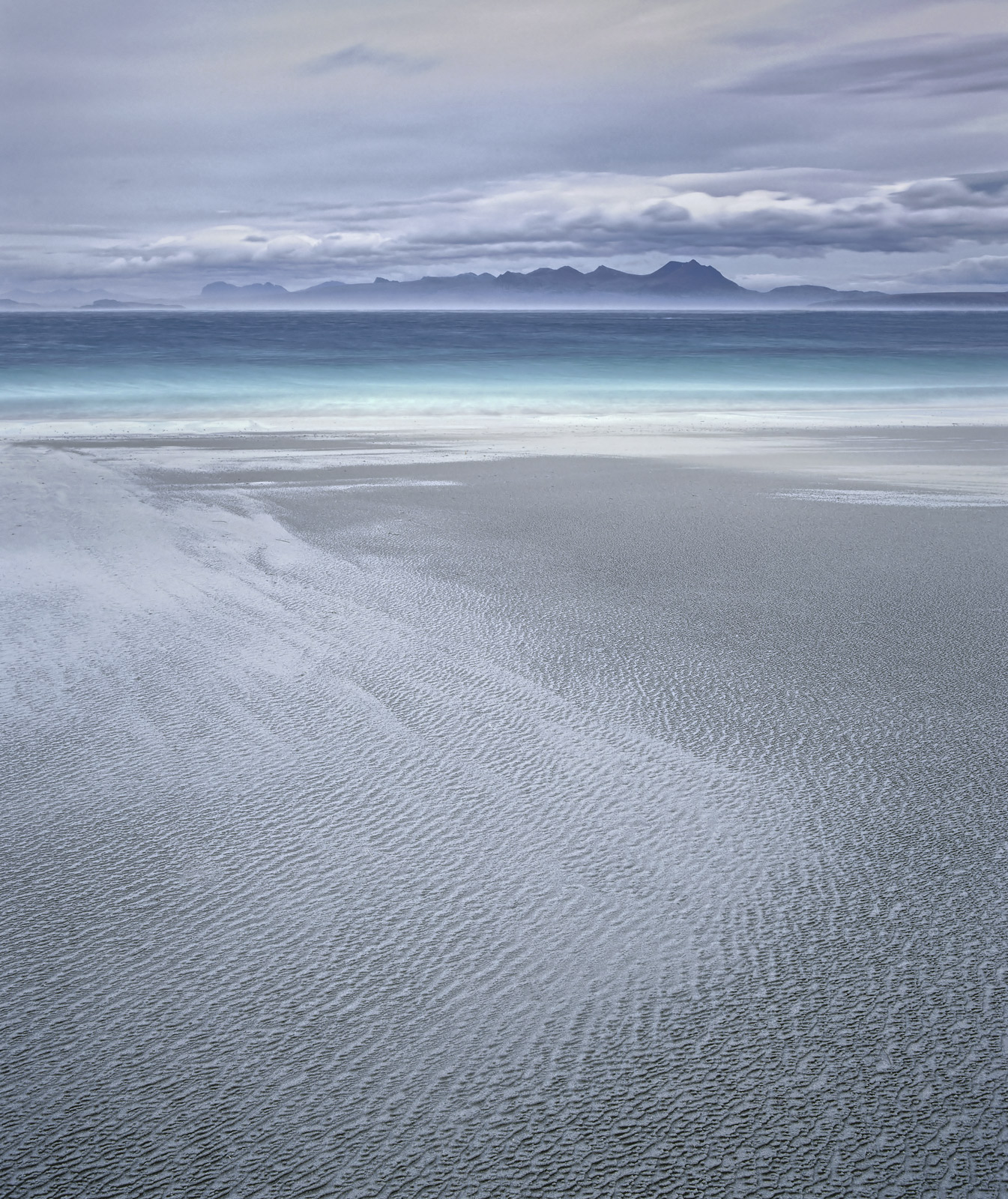 Towards the end of a very windy day on Mellon Udrigle beach I came across one of the many subtle sand patterns that you can find...