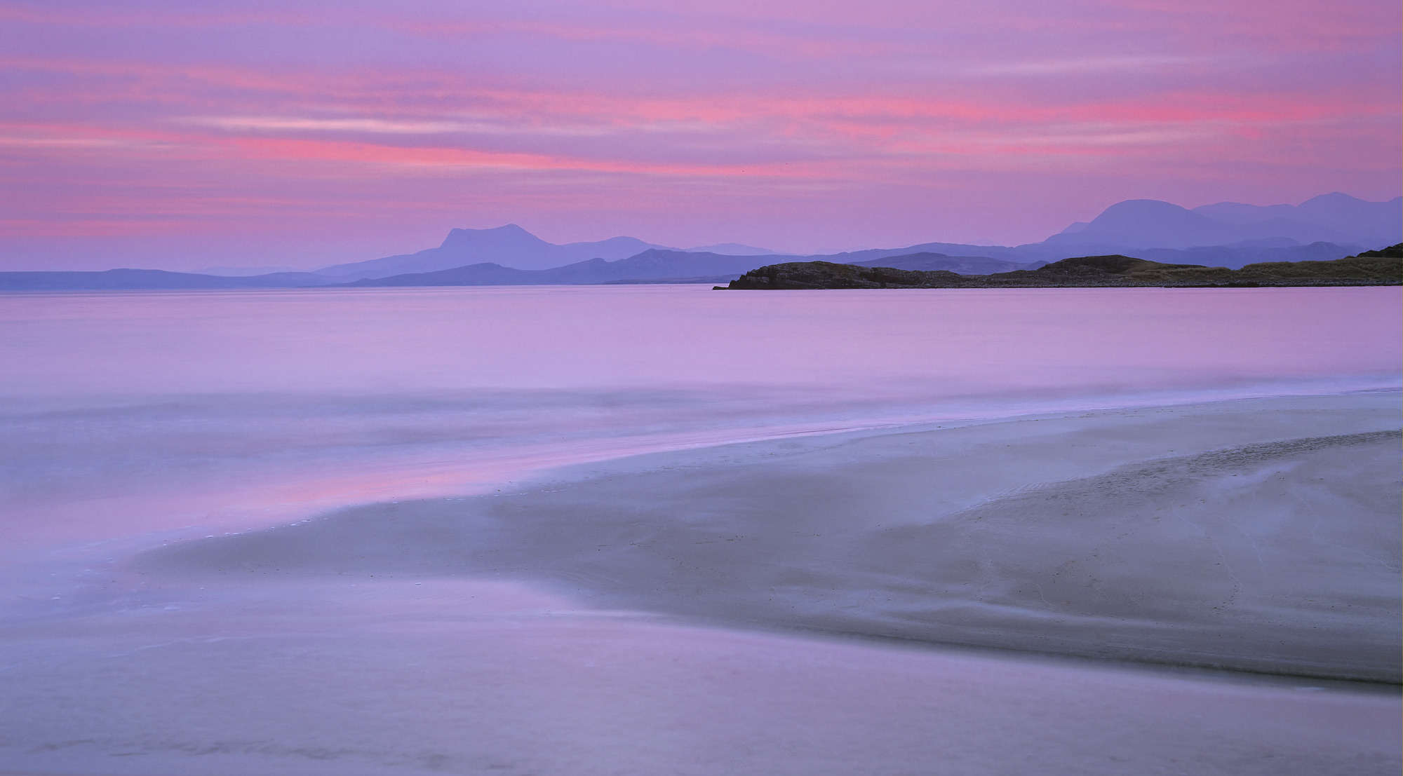A beautiful sweep of intense pre-dawn colour greeted us when we arrived at Mellon Udrigle one of my favourite mainland Scottish...