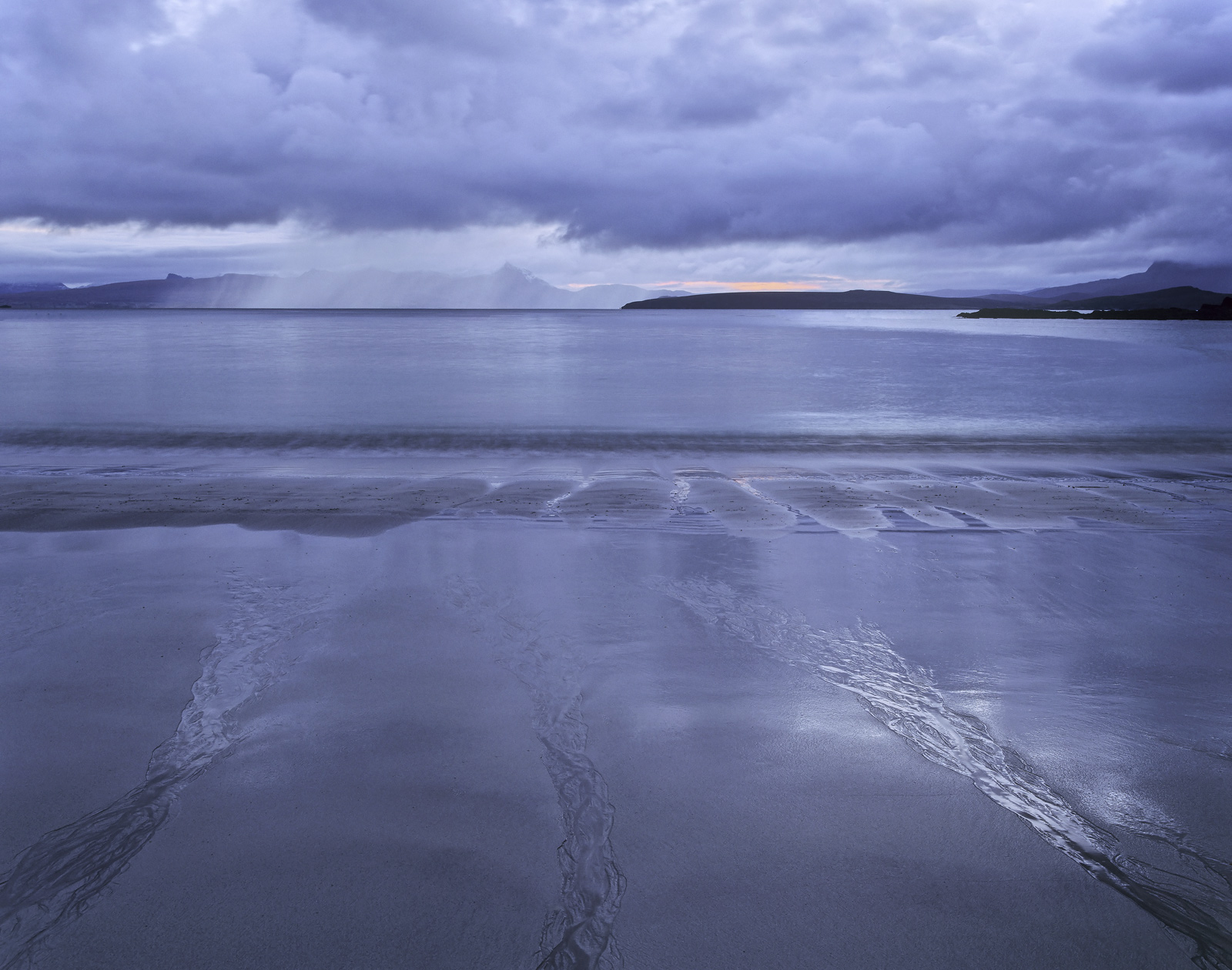The beautiful steely blue of twilight 40 minutes or so before sunrise hung over my favourite mainland Scottish beach, Mellon...