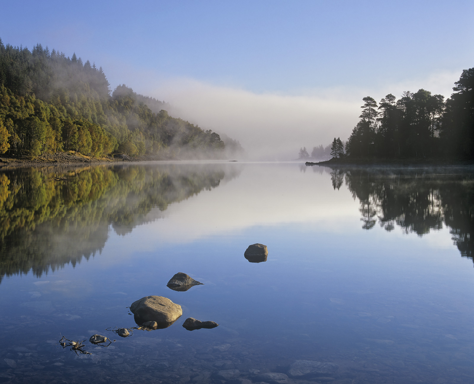 A gorgeous chilly and completely still autumnal morning spawned mist that boiled off the glassy surface of the loch and floated...