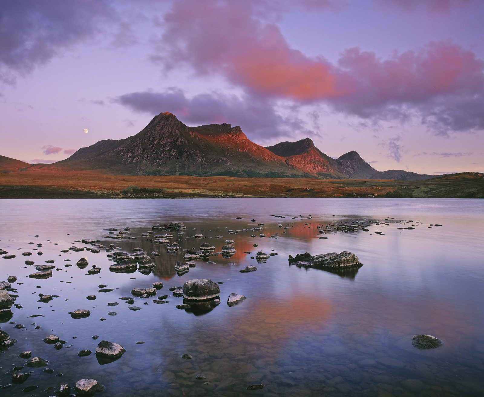 My personal favourite shot of Ben Loyal on a particularly fine Summer's evening with low cloud dappling the sky and catching...