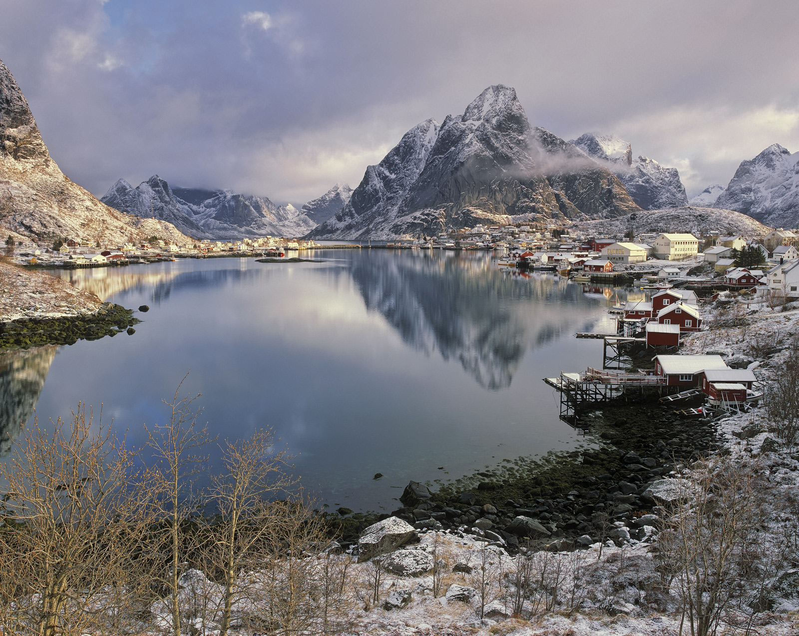 I think this is probably the finest shot I have taken of Reine harbour.  It had that beautiful stillness and quality of...