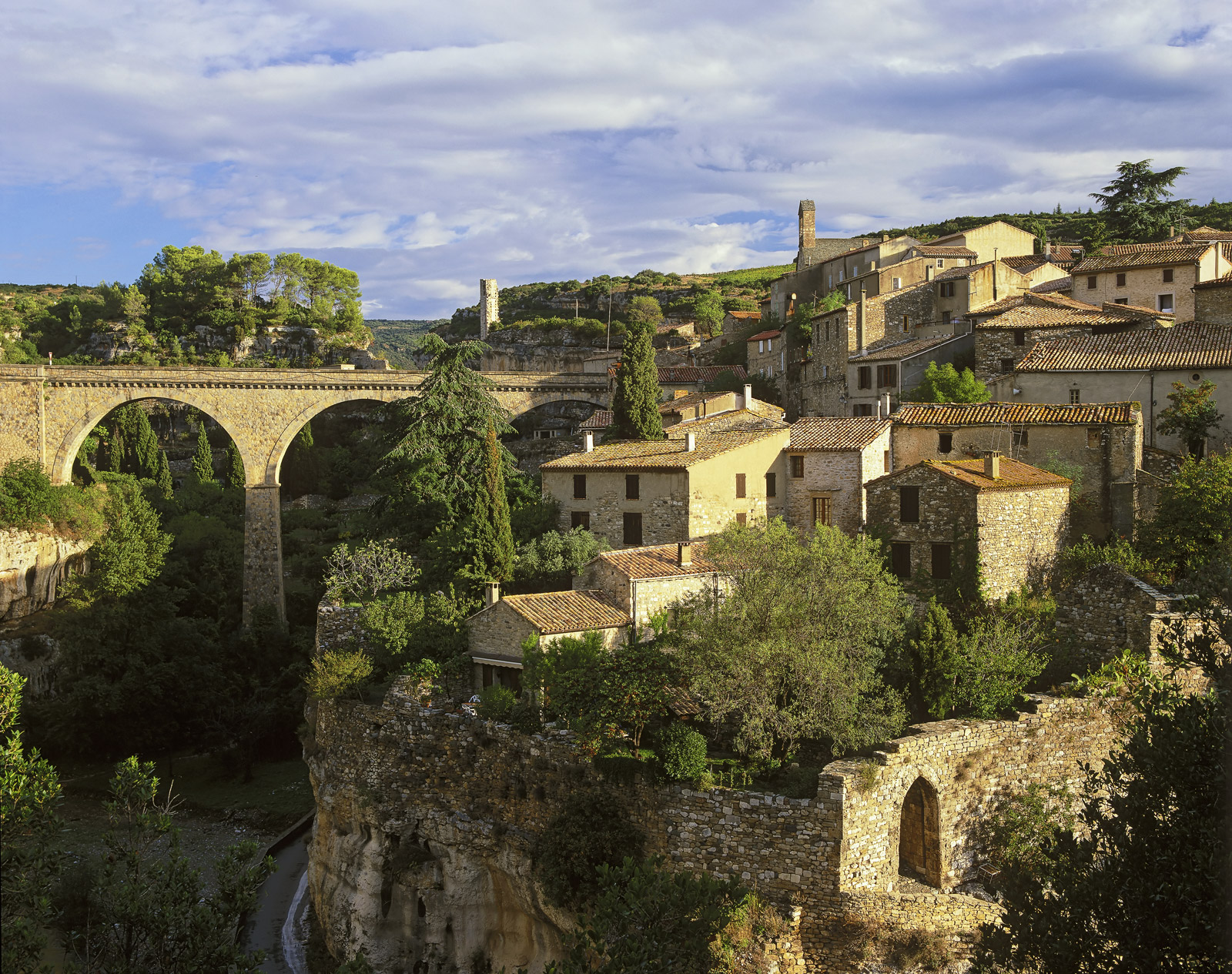 One of the most spectacular old French stone towns in Languedoc must surely be the little Cathar town of Minerve. The only...