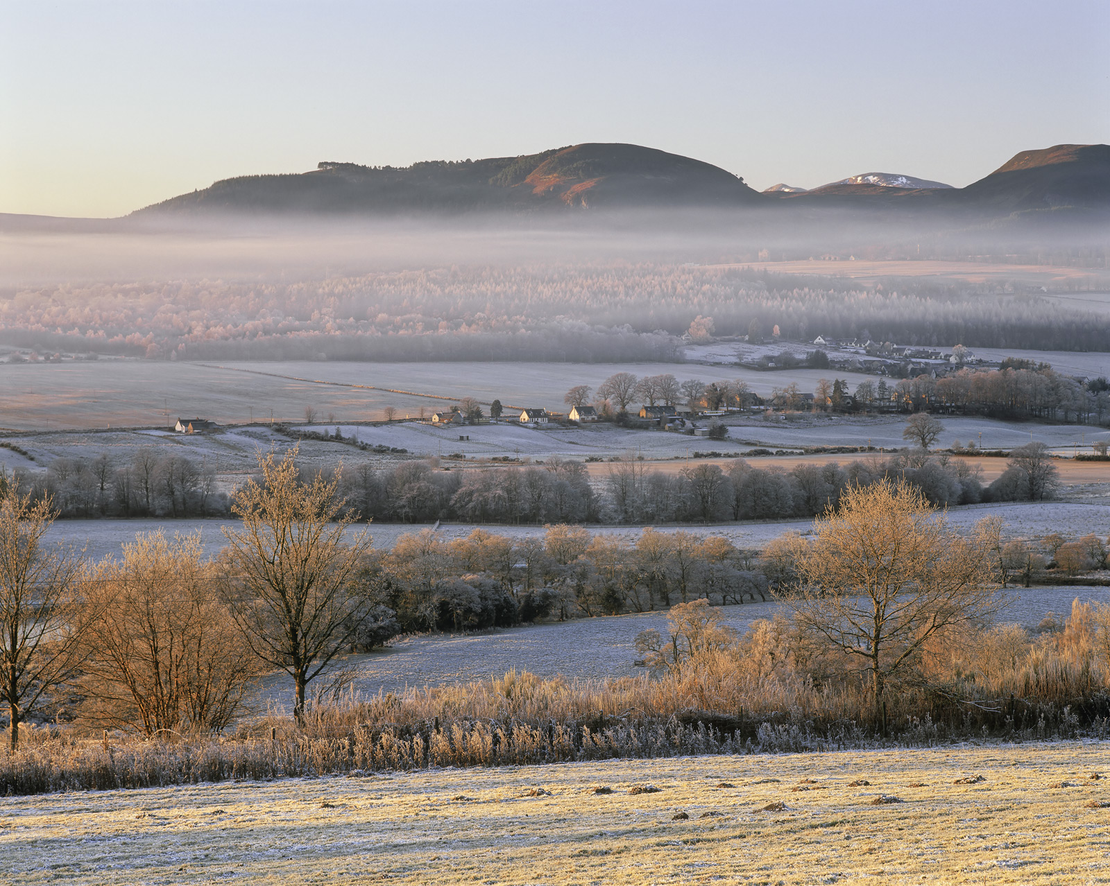 A gorgeous winter morning with mist hanging in layers over the valley floor thinning in the first warmth of sunrise. I...