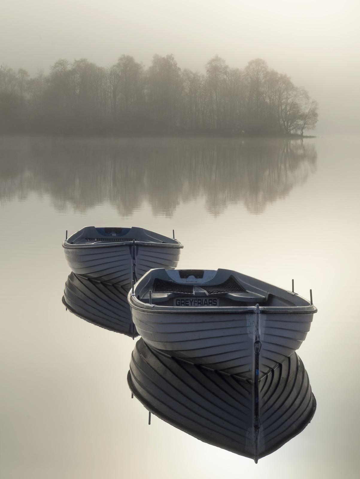 Platinum Rusky, Loch Rusky, Trossachs, Scotland, sunrise, platinum, evocative, contrasty, colour, definition, floating, , photo
