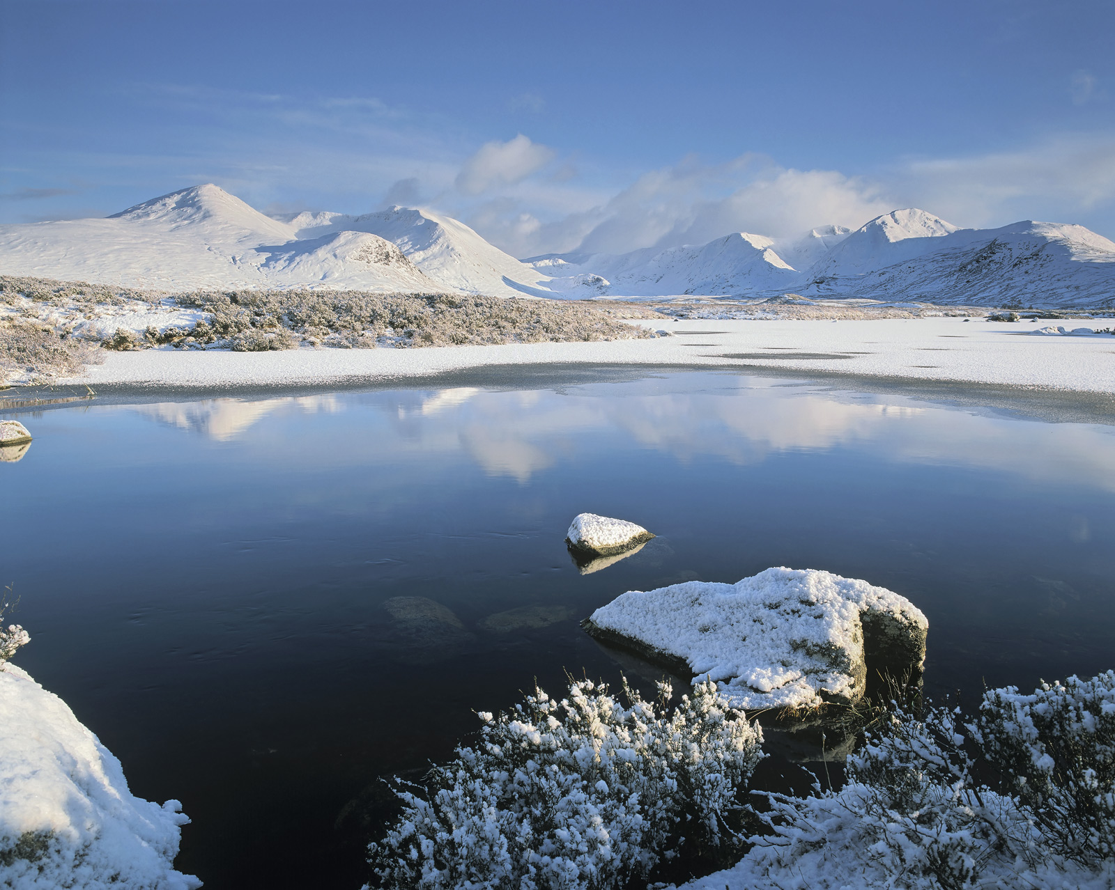 On a pristine winter morning snow lies thickly across every square inch of Rannoch moor and its complex network of lochans.&nbsp...
