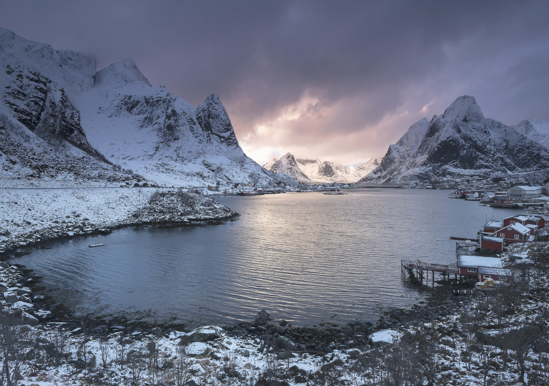 Reine is quite possibly the single most beautiful village or town anywhere in the big wide world.  Its mountain setting...