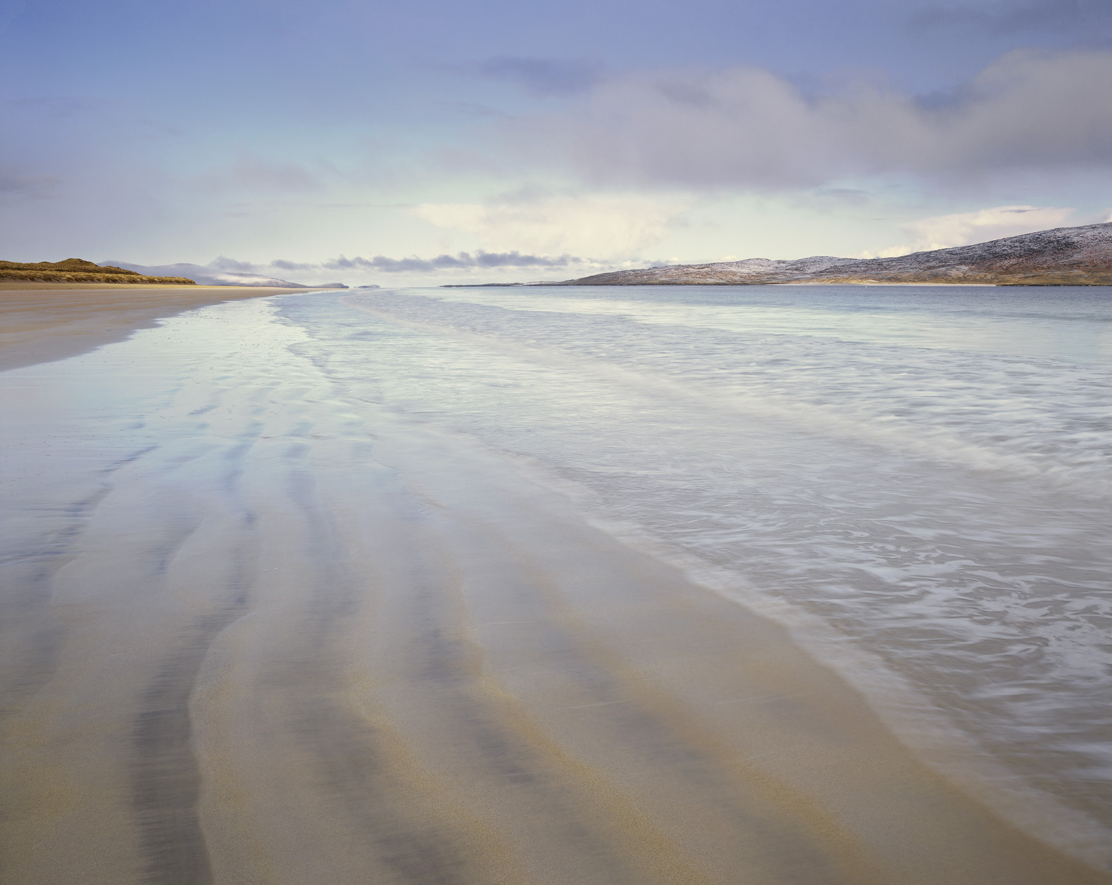 One of the many perfect stretches of beach that the Isle of Harris can be so proud of.  I tried a few shots looking right...