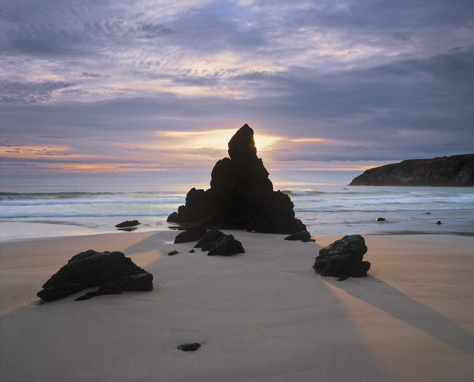 Sango Bay is quite unusual in that it is one of very few Scottish beaches that has rock stacks growing like mushrooms out of...