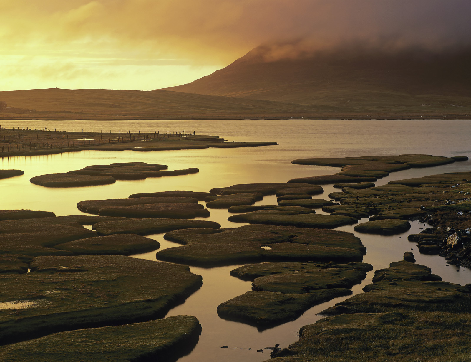 The salt marshes at the southern end of Traigh Scarasta are some of the best and most complex of any I have seen.  Unfortunately...