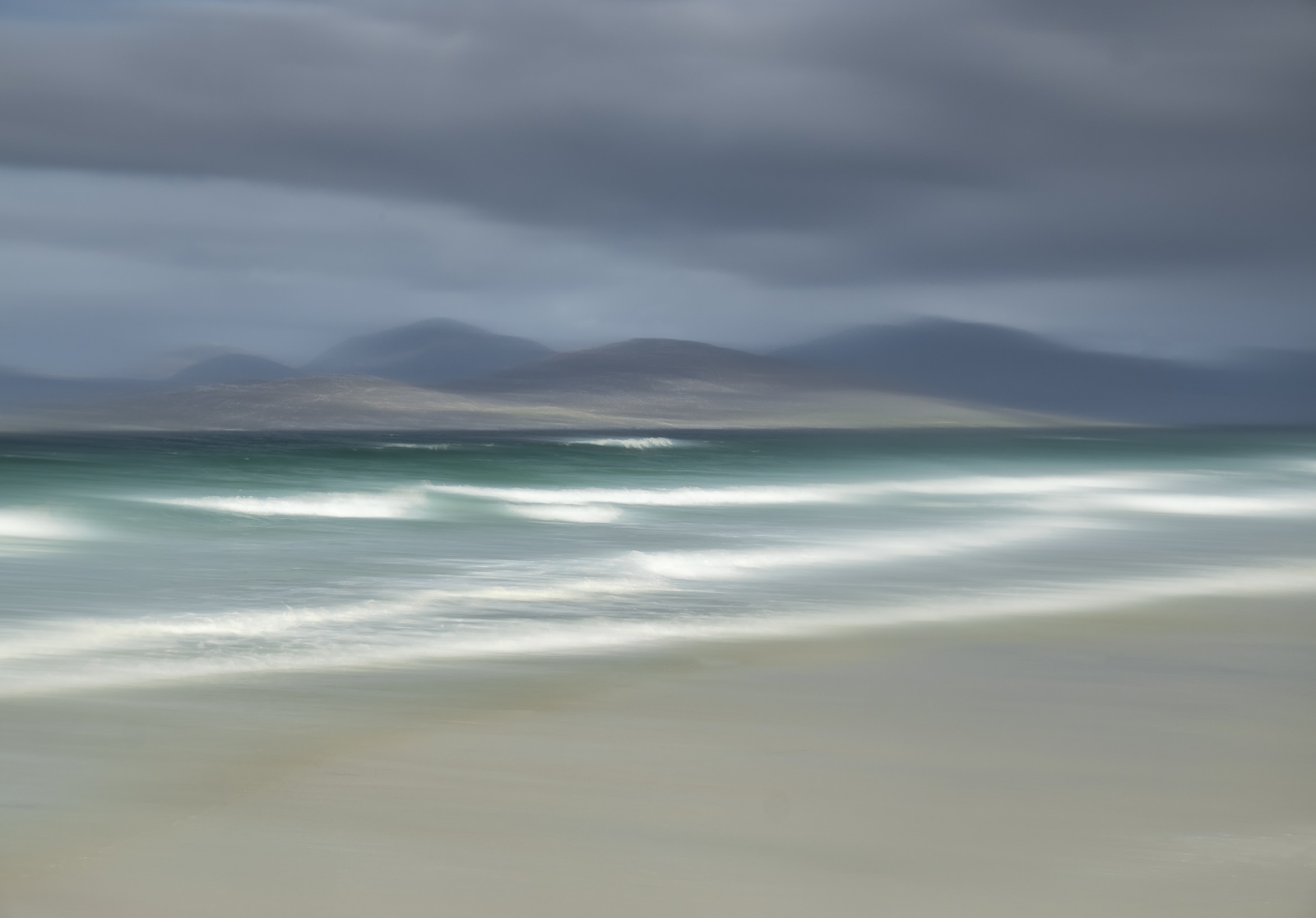 With the Harris peaks set below a moody grey sky and sunlit breakers crashing in on it's west coast beach I thought this would...
