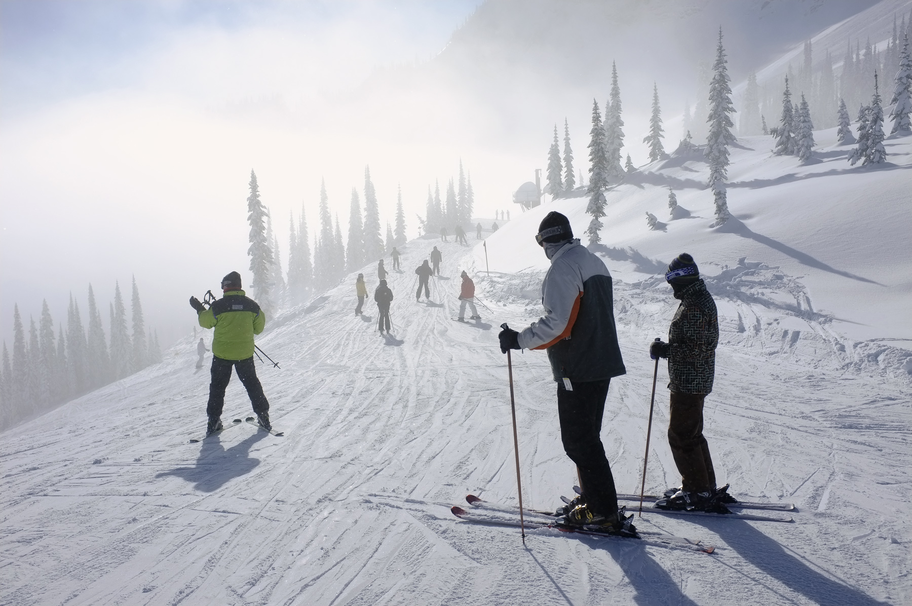 At the top of the Timber bowl the cloud still veiled the mountains around the logging town of Fernie. The experience of...