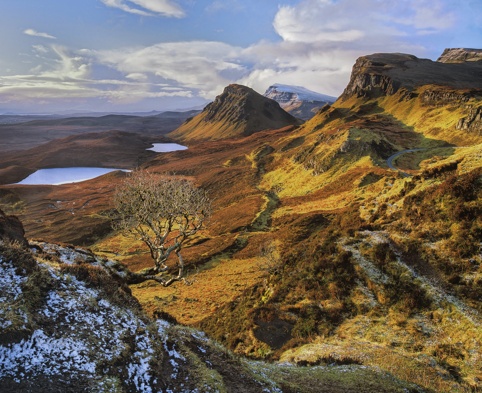 A sprinkling of new snow dusted the Quiraing just before first light and then rapidly started to thaw where the first rays of...