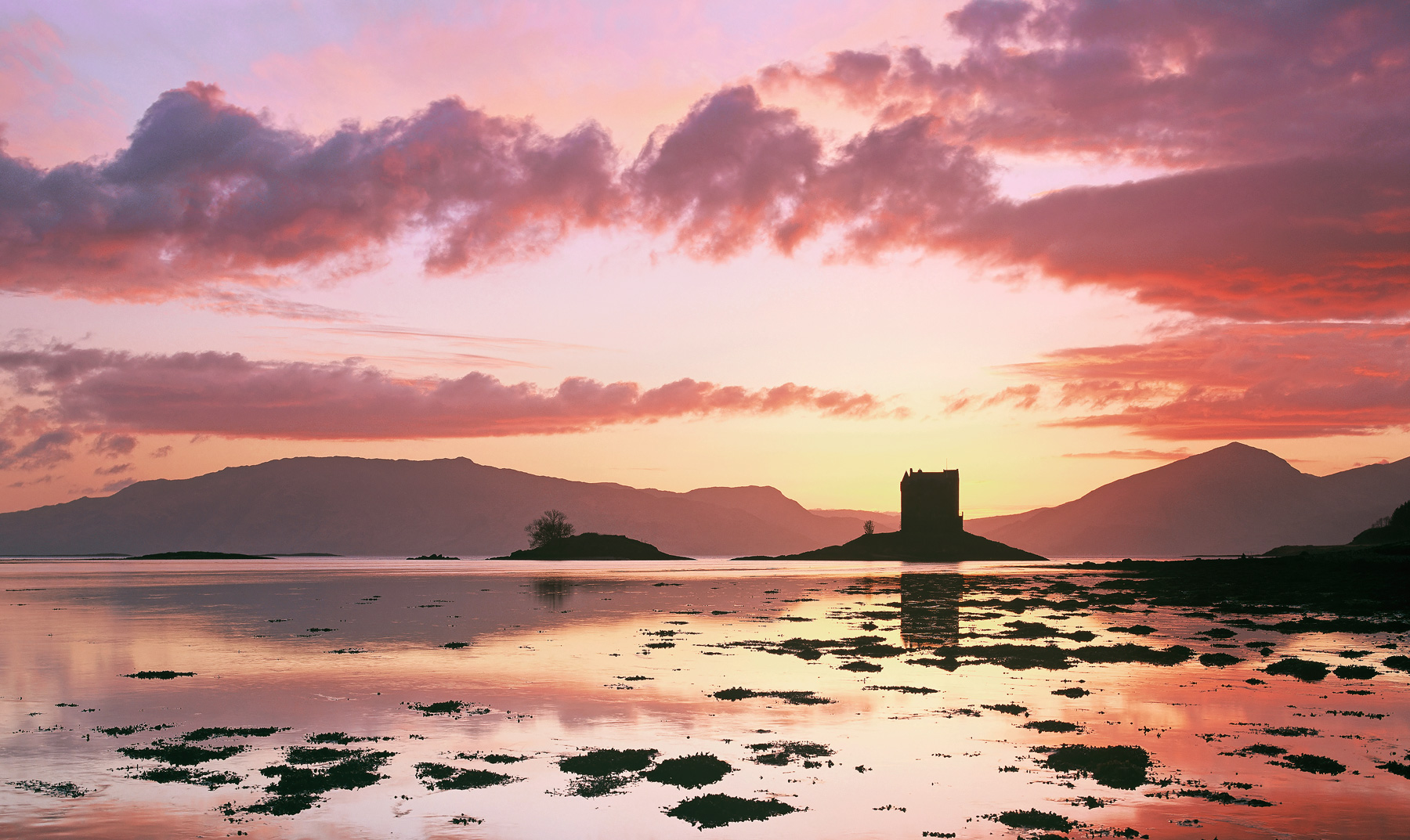 One of the best Spring time sunsets I can ever recall seeing at Castle Stalker, but it wasn't all straight forward as it was...