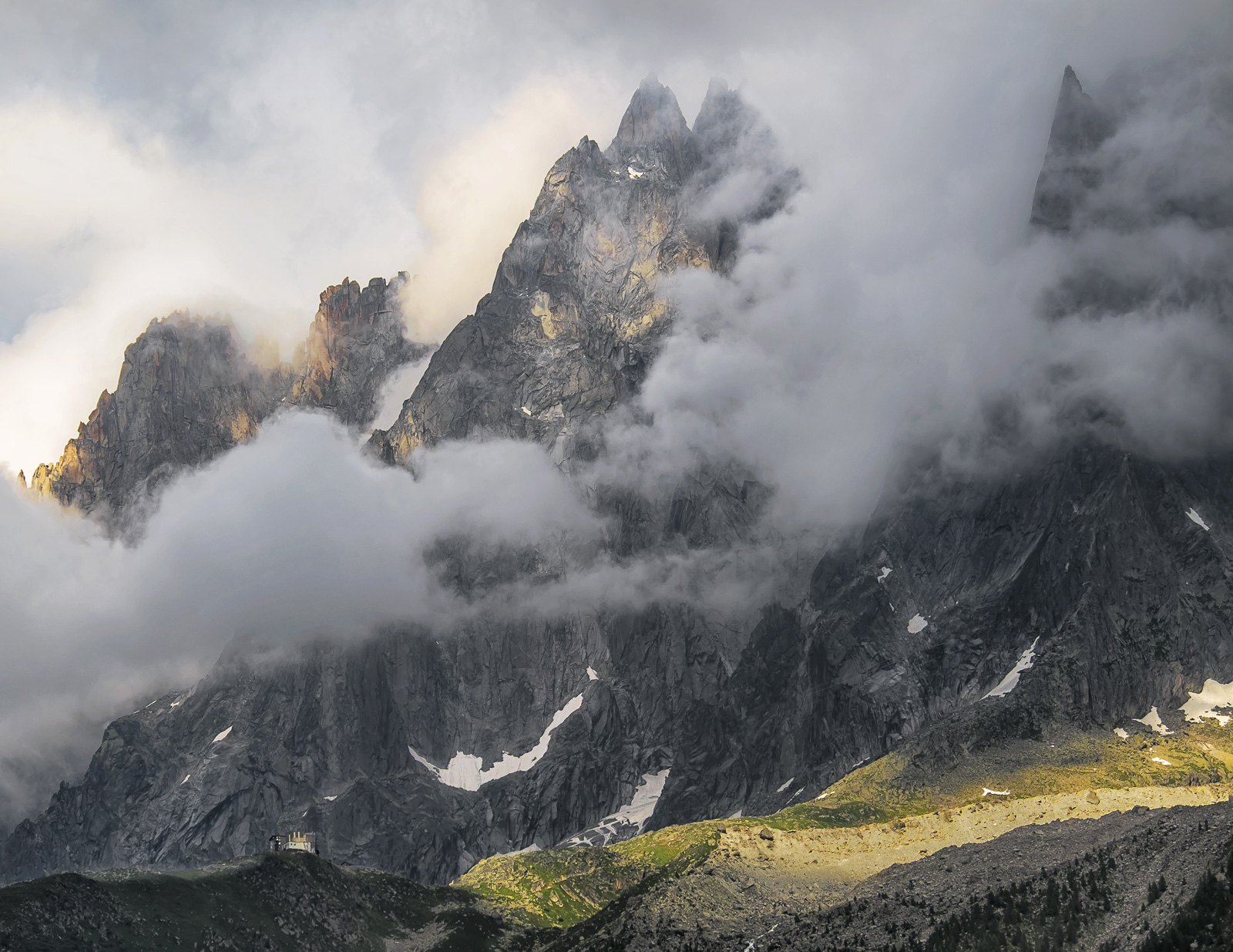 Storm Midi Aiguille, Les Houches, Chamonix, France, altitude, Mont Blanc, hike, hills, storm, balcony, epic, sunlight, c, photo