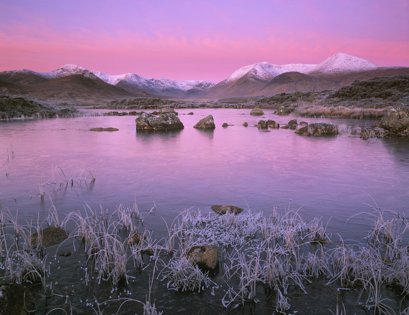 Sumptuous pre dawn colours filled the western sky where the so called Belt of Venus forms at the anti-solar point creating...