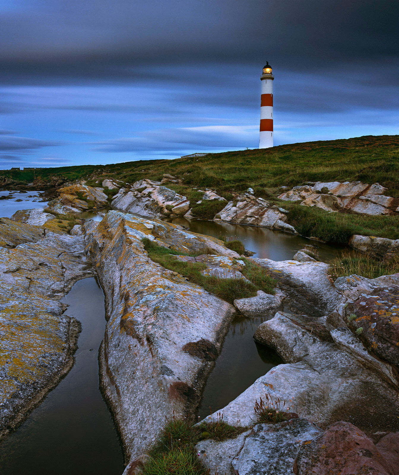 There are very few red and white striped lighthouses left in Britain and even fewer in Scotland but this one is nicely sited...