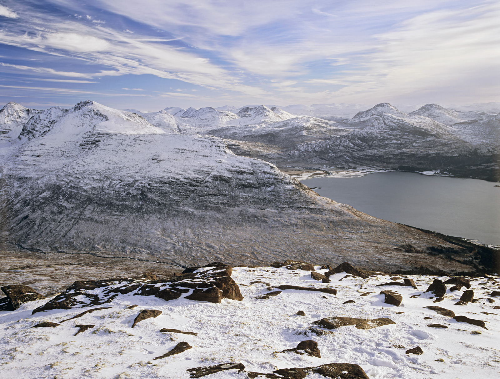 The night before I was treated to this spectacular view I was staying on the summit of TomNa Gruigach in the high Torridon...