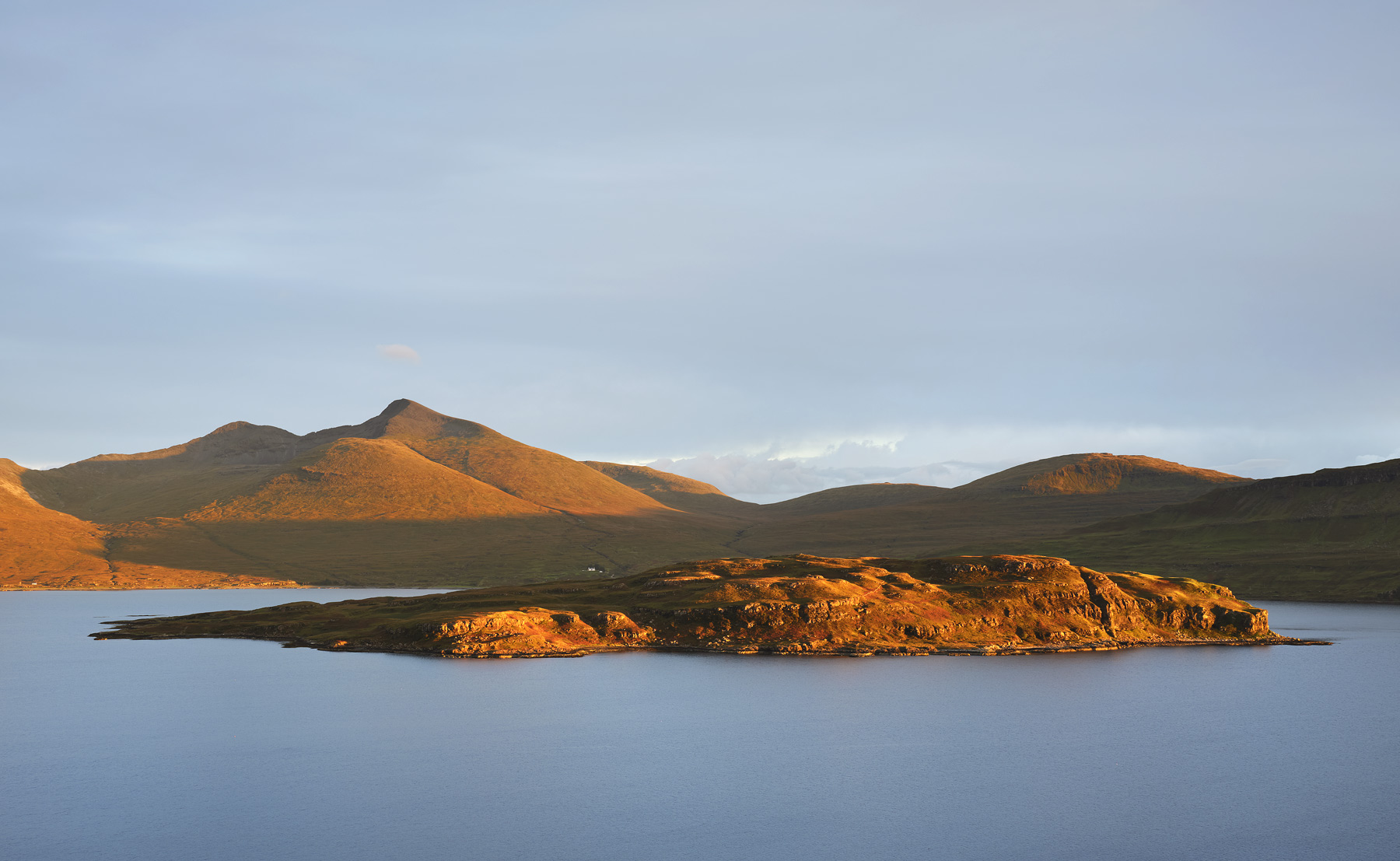 High above Loch na Keal I was treated to some spectacular sunset light striking the mountain top of Mull's munro Ben More.&nbsp...