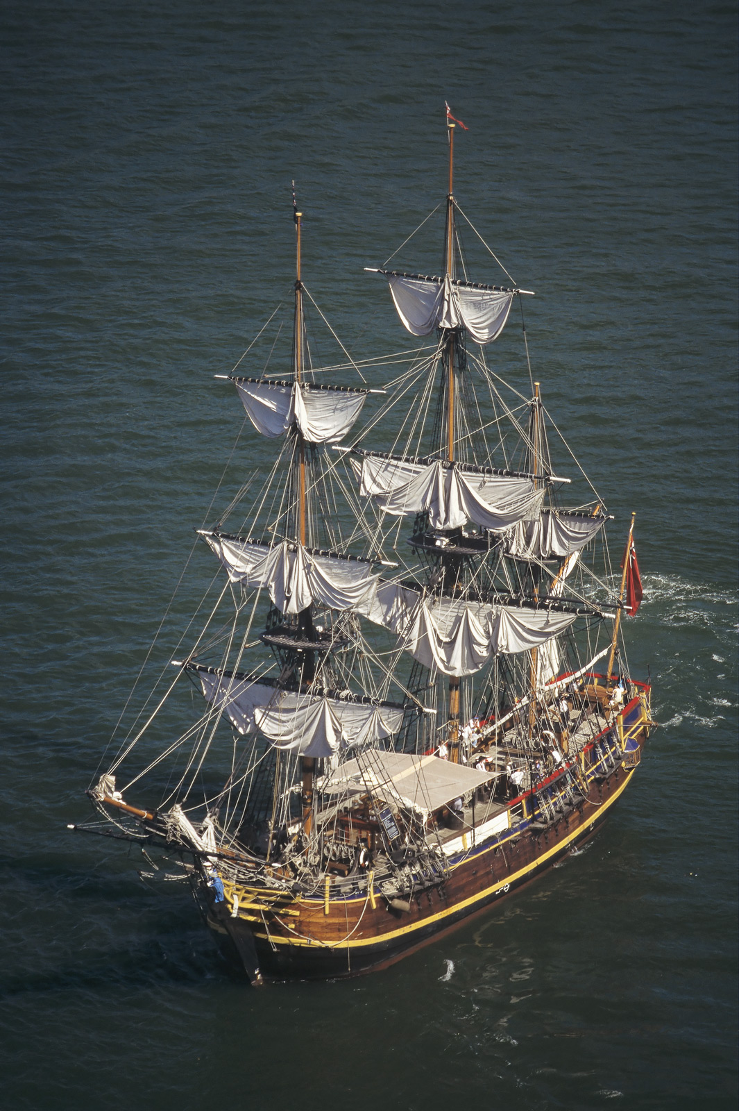 The Southern Swan tall ship is available for charter and from my viewpoint high up on Sydney Harbour bridge in conjunction with...