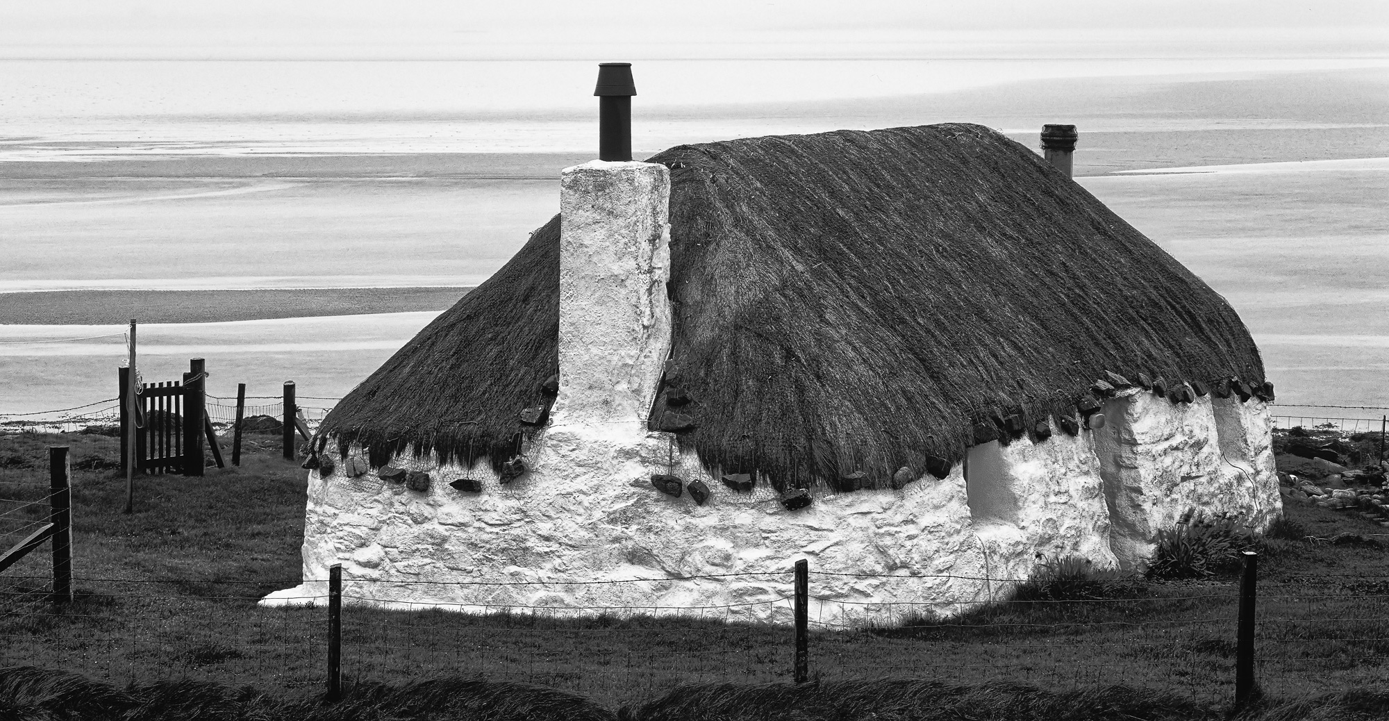 This little thatched cottage by Malacleit on north uist is a very well photographed location we went past it on a softly lit...