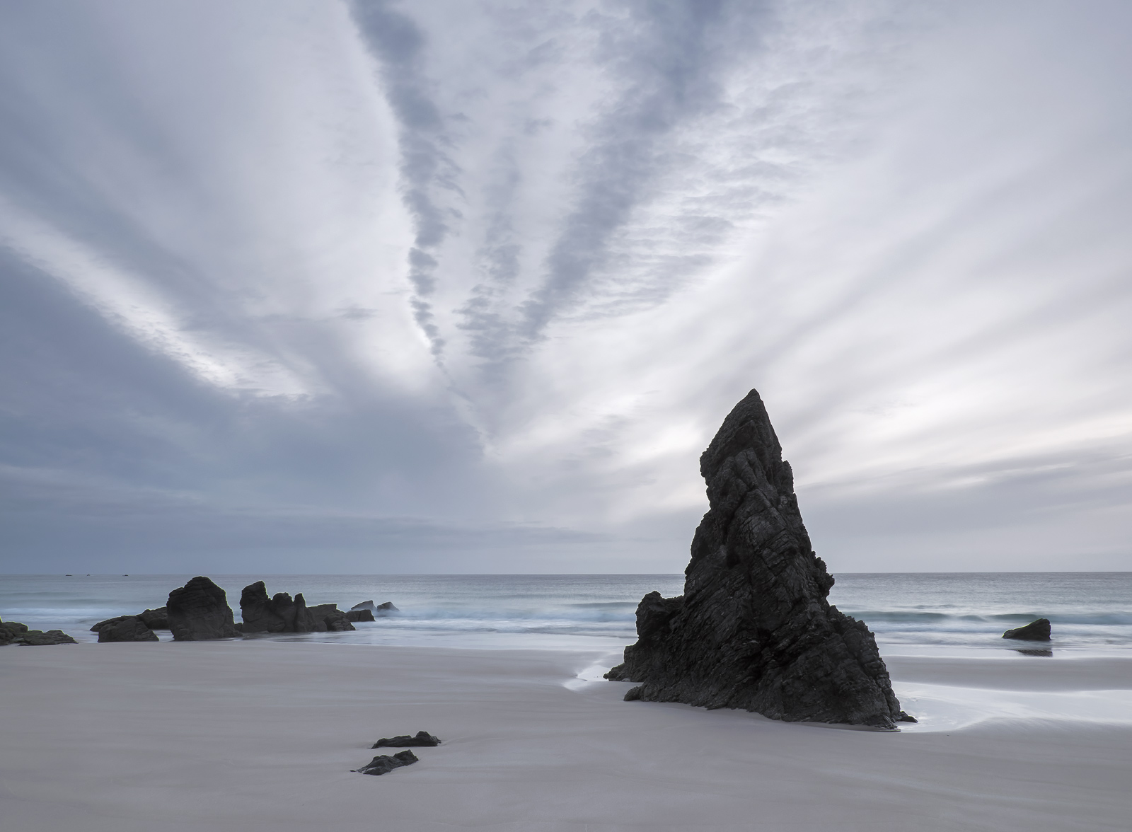 Sango Bay at Durness is one of the few Scottish beaches I know with large scale shapely rocks sticking out of the sand and it...