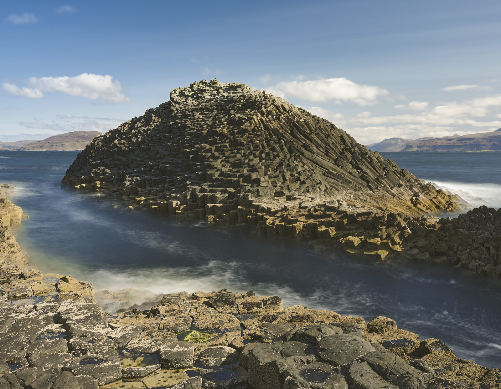 Close to the landing stage on the Isle of Staffa I got my first glimpse of the amazing basalt columns with their hexagonal cross...