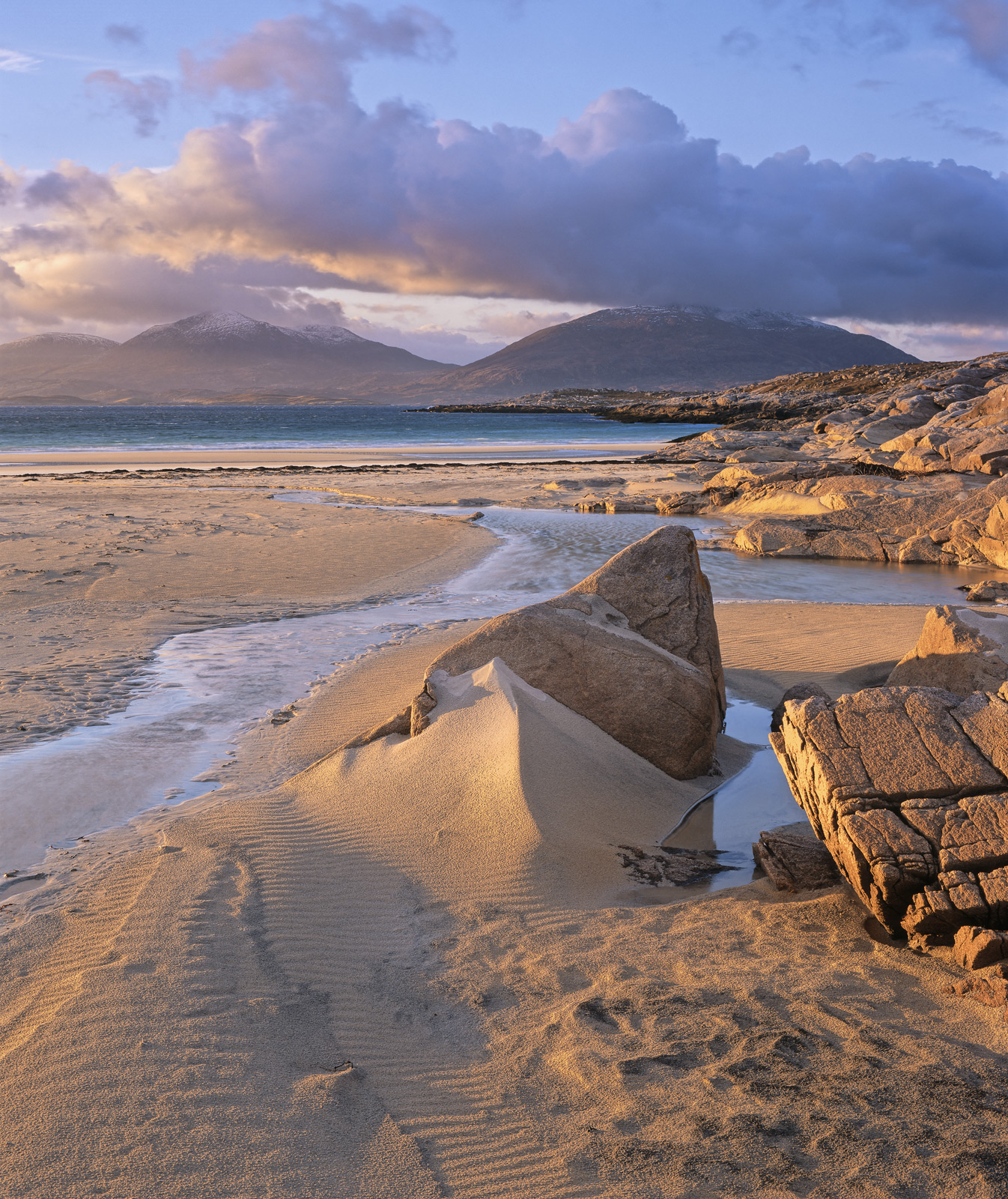 A sunset stroll out to Traigh Rosamol at low tide is often worthwhile particularly if there is any likelihood of a sunset maturing...