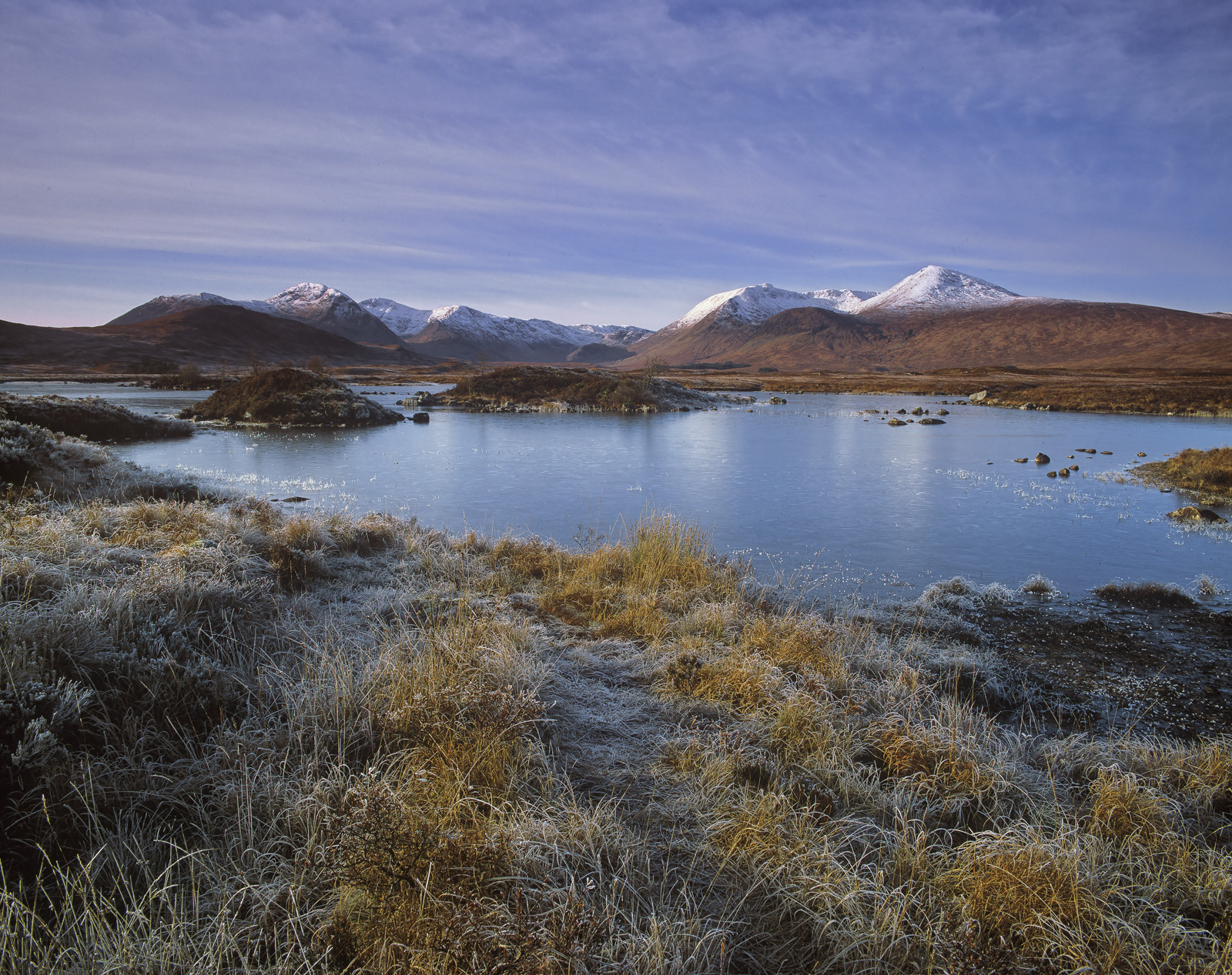 Ice and frost are frequent visitors to rannoch moor as it is really very high at nearly 1100 feet above sea level and there is...
