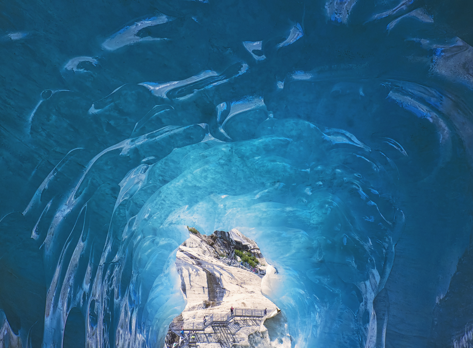 Under Pressure, Mer De Glace, Chamonix, France, ice, caverns, blue, compressed, Mont Blanc Massif, glacial, tunnel, tour, photo