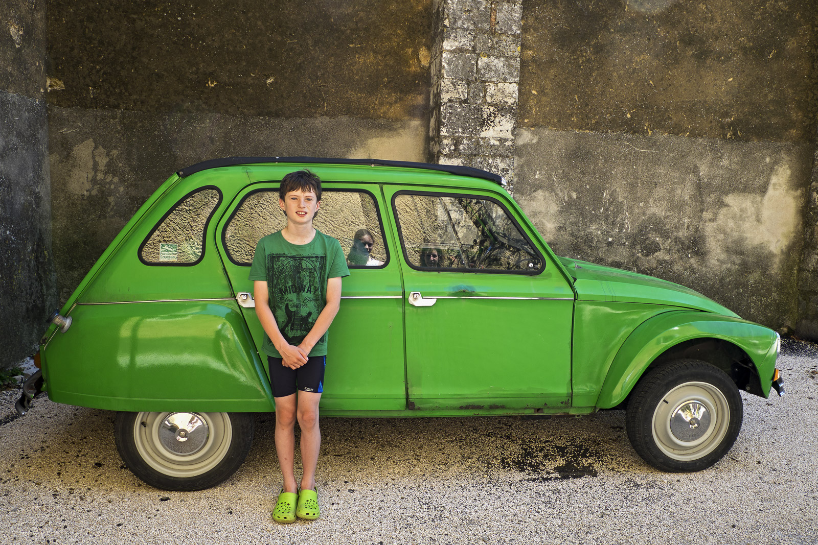 Quintessentially French. My young son Ben sporting matching T-shirt and shoes would love to be the prospective owner of...