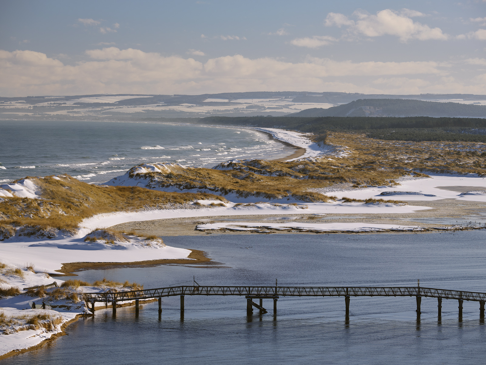 A stunning winter view from high up on the terraced road above Lossiemouth town.  Even so the best viewpoint is surprisingly...