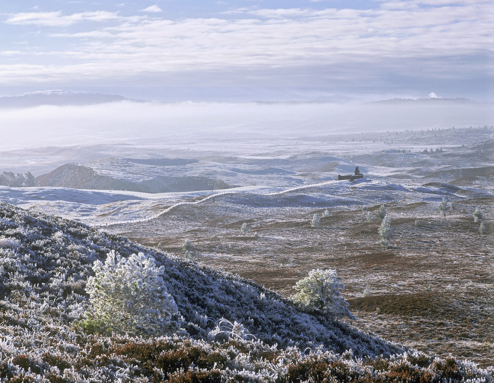 From this lofty viewpoint off the B road that crosses the Dava Moor you can see across most of the moor towards Carr Bridge and...