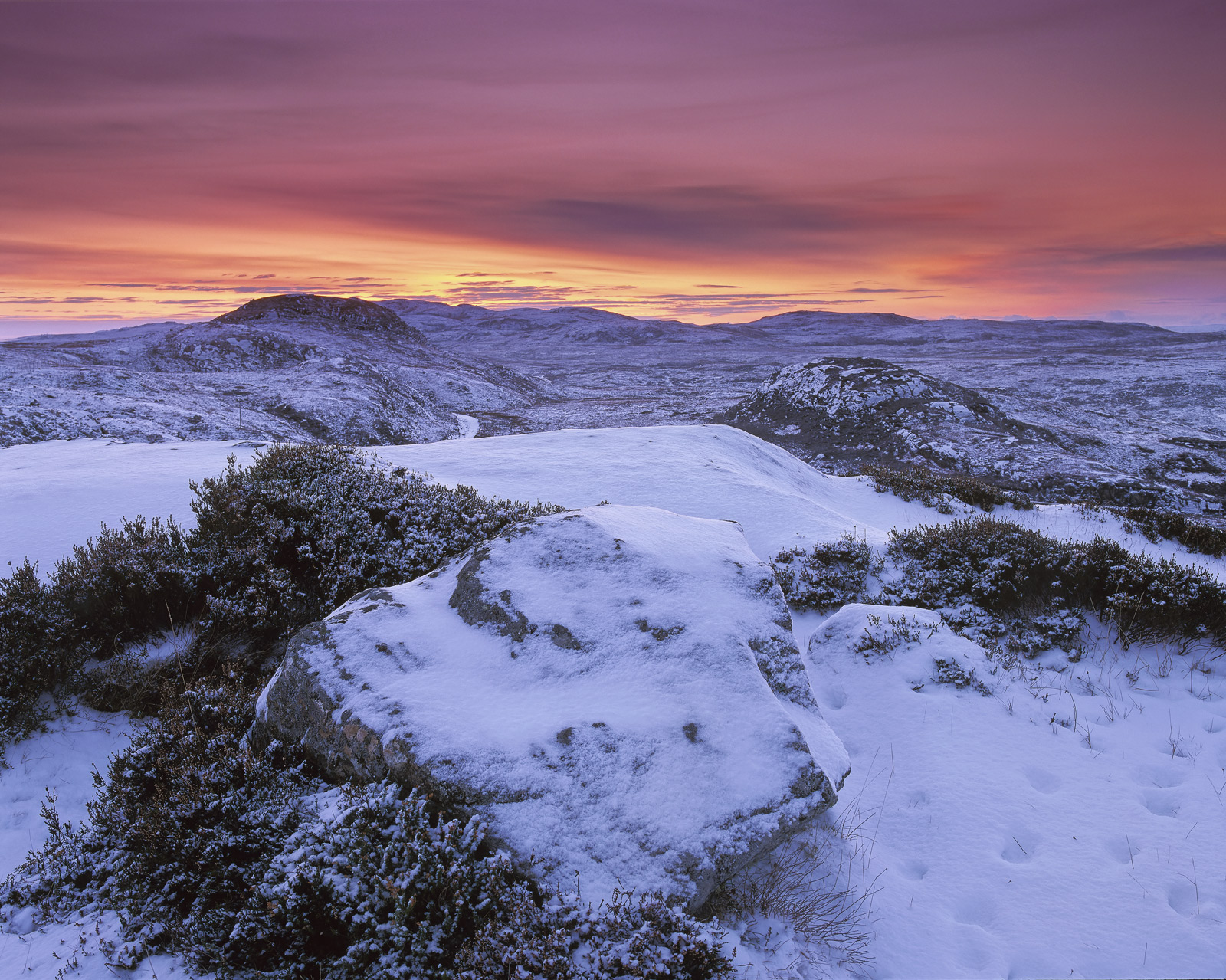 On a very chill winter evening above the viewpoint at Gruinard Bay I found myself facing away from the famed viewpoint and instead...