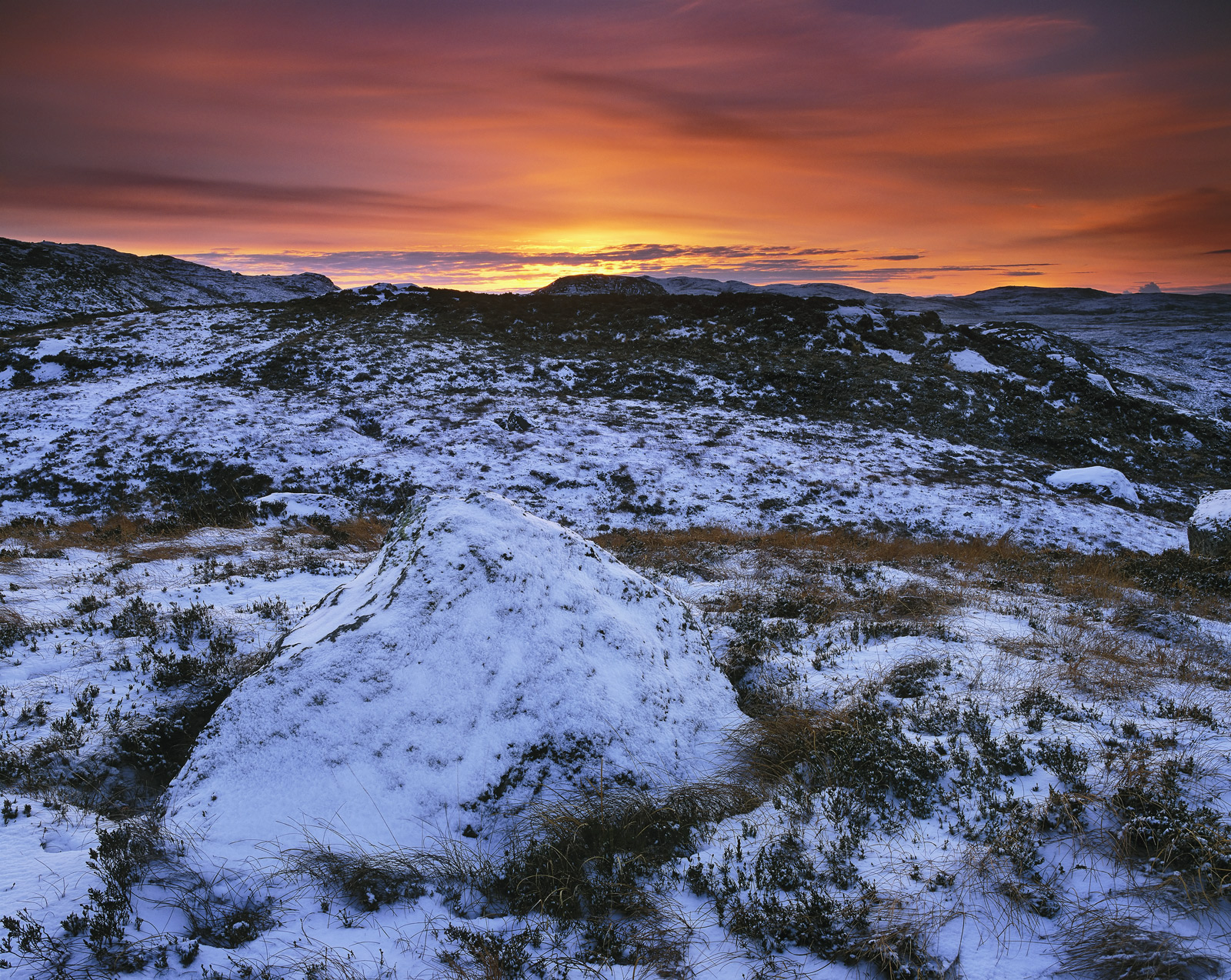 When snow is new and neither too heavy or too sparse then the vegetation is able to show through giving the landscape a little...