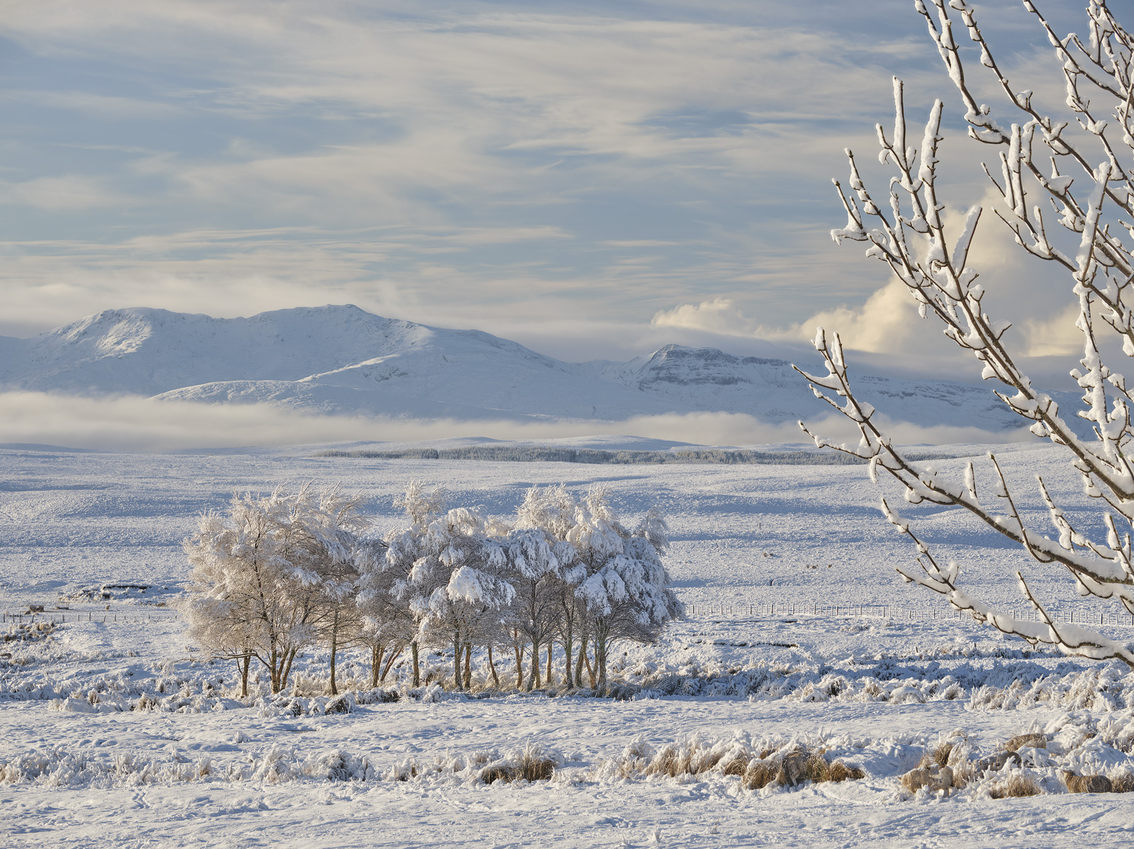 The first opportunity to capture some winter weather in Scotland occurred this year and I seized it by heading up the Altnaharra...